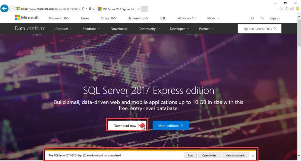 download sql express