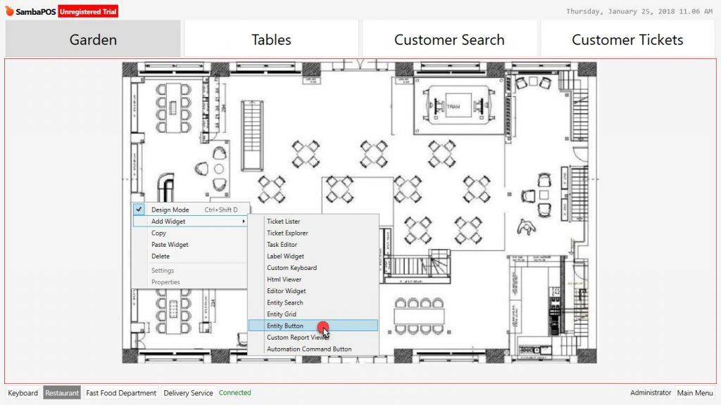 Floor Plan Image in Entity Screen